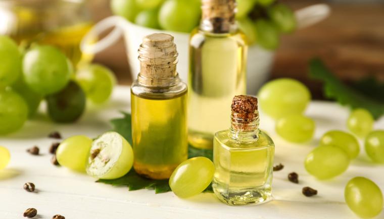 Hroznový olej a vitamín E: Srdcia rady Dotyk Vánku