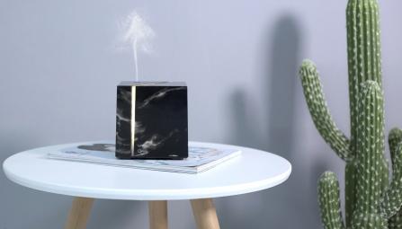 Difúzer so zvlhčovačom vzduchu 200 ml black marble grain