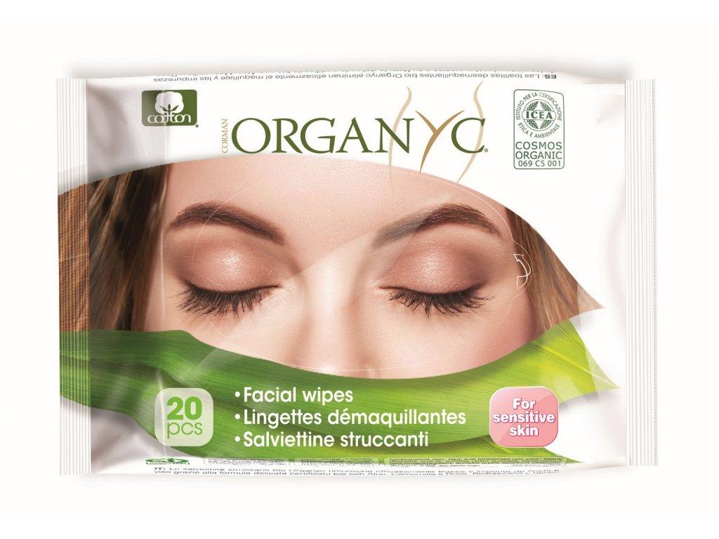 Bio Organyc odličovacie pleťové obrúsky (20 ks)